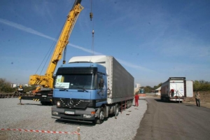 Германия прислала в Украину материалы для строительства городка переселенцам из зоны АТО
