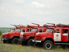 Николаевские спасатели тушили условный «лесной пожар» и отрабатывали эвакуацию людей