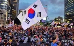 В Южной Корее началась массовая антиправительственная акция протеста