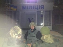 В Авдеевке из-за попадания снаряда в горотдел милиции контужены двое сотрудников