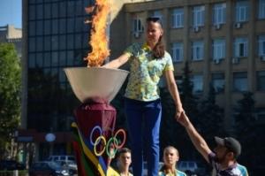 В Николаеве зажгли символический олимпийский огонь (ФОТО, ВИДЕО)