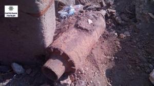 В Широкой Балке нашли авиабомбу калибром 150 мм