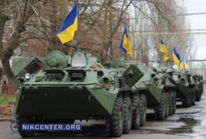 Николаевским бойцам 79-й бригады передали 12 отремонтированных БТРов (ФОТО, ВИДЕО)