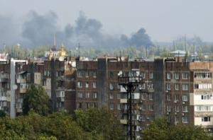 На окраине Донецка завязался ожесточенный бой