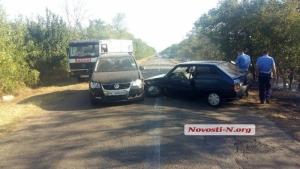 На автодороге Николаев - Рыбаковка из-за дыма от горящих полей столкнулись два автомобиля