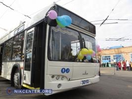 В Николаеве вышли на маршруты два новых троллейбуса