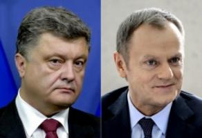 Порошенко обсудил с президентом Европейского совета ситуацию на востоке Украины