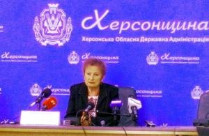 Руководитель Херсонской ОГА оскандалилась на пресс-конференции, посвященной взрыву в Геническом районе
