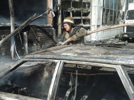 В Херсоне произошел пожар на автозаводе