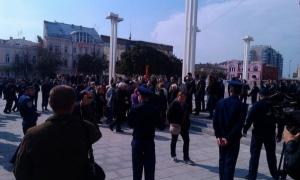 В Харькове органы правопорядка разогнали коммунистов с незаконного митинга