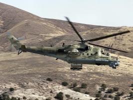 В Херсонской области были замечены российские военные вертолеты