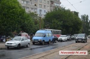 В Николаеве из-за ДТП заблокировано движение трамваев