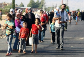 Сирийские беженцы прорываются через границу Украины