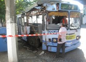 В Одессе 11 пассажиров троллейбуса пострадали в результате ДТП