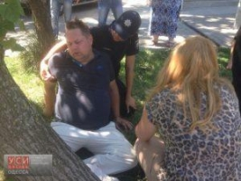В Одессе патрульная довела правонарушителя до гипертонического криза
