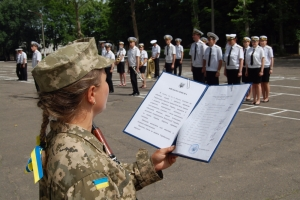 На Николаевщине 50 моряков-курсантов приняли присягу на верность Украине (ФОТО)