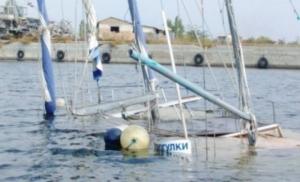 В Херсоне во время регаты затонула яхта