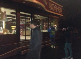 В Киеве взорвали магазин Roshen (ФОТО, ВИДЕО)