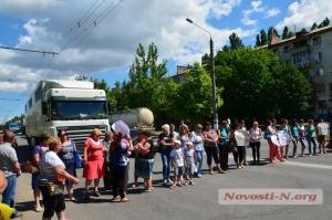 В Николаеве жены и матери военнослужащих снова перекрыли проспект Героев Сталинграда
