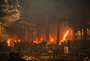 В Одессе произошел пожар на одном из самых больших кладбищ в Украине