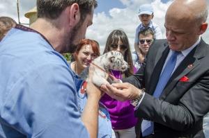 Мэр Одессы принял участие в открытии частного зоопарка
