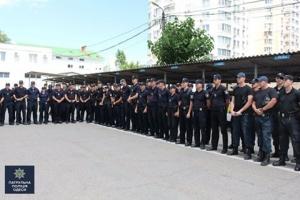 В Одессу прибыло 120 патрульных полицейских с разных городов Украины