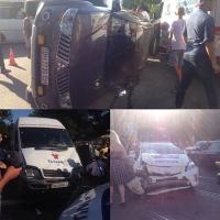 В центре Одессы произошла авария с участием машины патрульной полиции
