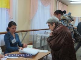 В Николаеве явка избирателей на 18.00 составила 37,04%