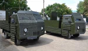 Николаевский тепловозоремонтный завод передал бронированные УАЗы для погранвойск Украины