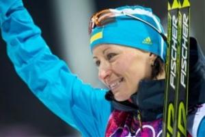 Украинская спортсменка Валентина Семеренко завоевала золото на чемпионате мира по биатлону