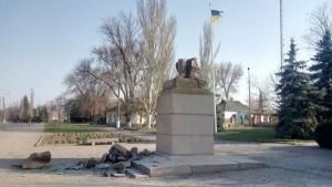 На Николаевщине снесли очередной памятник Ленину