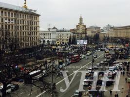 Активисты перекрыли Крещатик в Киеве