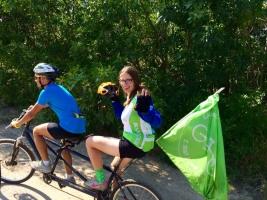 Участники благотворительного велопробега для слепых побывали в Вознесенске и Веселиново