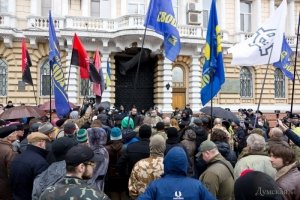«Правый сектор» пикетировал областную милицию в Одессе