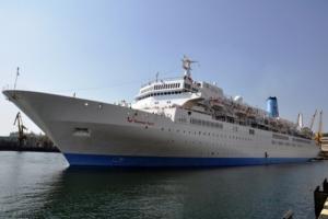 Одесса встретила «олимпийский» лайнер Thomson Spirit
