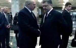 В сеть попало видео с отрывком разговора президентов Украины и Беларуси о