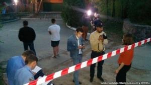 Неизвестные напали на журналистов прямо возле дома зам. главы МВД Украины (ФОТО + ВИДЕО)