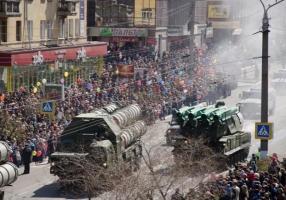 В России во время парада Победы загорелся