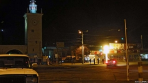 В Симферополе для экономии электроэнергии отключили уличное освещение