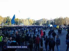 Под Одесской ОГА вновь митинговали