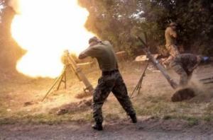 Боевики продолжают обстреливать из запрещенных минометов позиции сил АТО