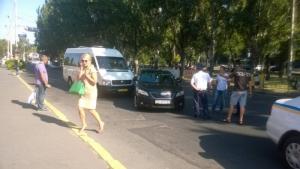 В центре Николаева «Тойота» вице-губернатора Янишевской попала в ДТП