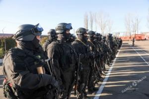 Новый одесский спецназ провел показательные учения