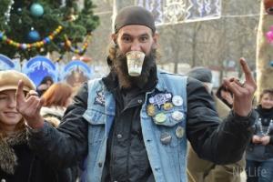 Николаевскую детвору с праздниками  поздравили «Деды Морозы» на мотоциклах. ФОТО, ВИДЕО