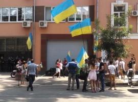 В Одессе продолжается  пикет здания милиции, где находится Марк Гордиенко