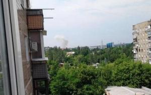 В районе Донецкого аэропорта прогремел мощный взрыв