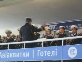 В одесском аэропорту оркестр сыграл в честь донецких «киборгов»