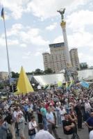 Участники народного вече в Киеве потребовали прекратить перемирие