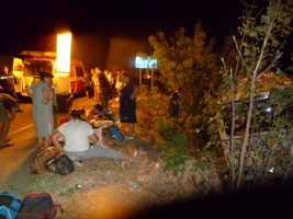 В ДТП в Запорожской области пострадали 14 туристов