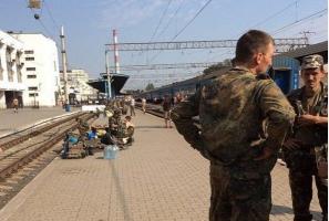В Запорожье военнослужащие, вернувшиеся из зоны АТО, протестуют против обратной отправки на Донбасс